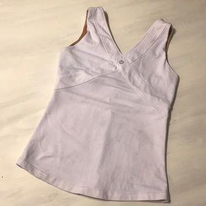Lululemon wet dry warm shelf bra tank white